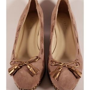 Lauren by Ralph Lauren Wedges - Taupe & Gold - 7.5